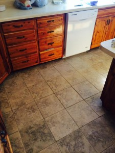 Kitchen Before/After Tile